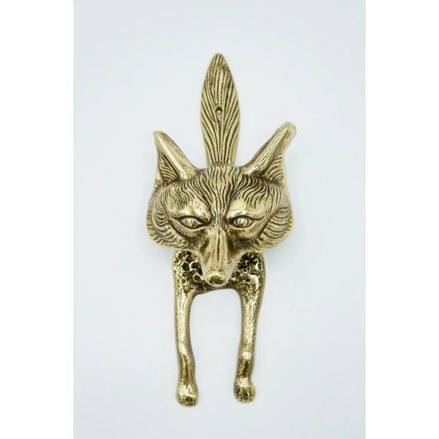 Vintage Brass Fox Door Knocker For Sale - Image 9 of 9