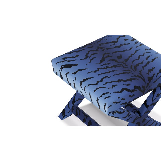 X Bench In Royal Tiger By Old World Weavers For Sale - Image 4 of 7