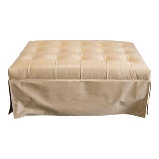 Barclay Butera Home Cambridge Leather Ottoman