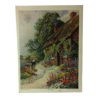 "Vintage Color Print on Paper, ""Haven of Rest"" by Claude Strachan - 1926 For Sale"