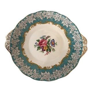 Turquoise & Gold Royal Albert China Tray