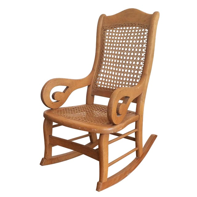 Childs Rocking Chair With Caned Back - Image 1 of 6