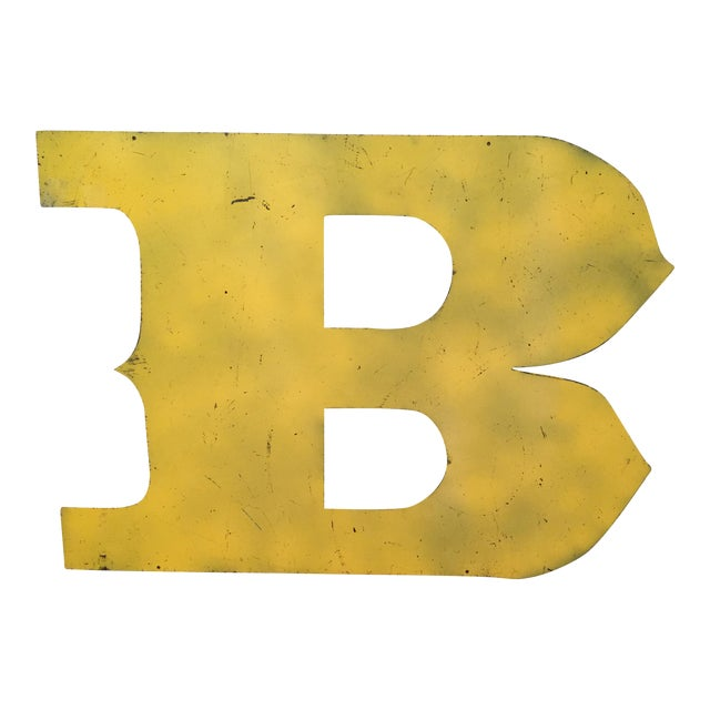Metal Letter B Sign - Image 1 of 3