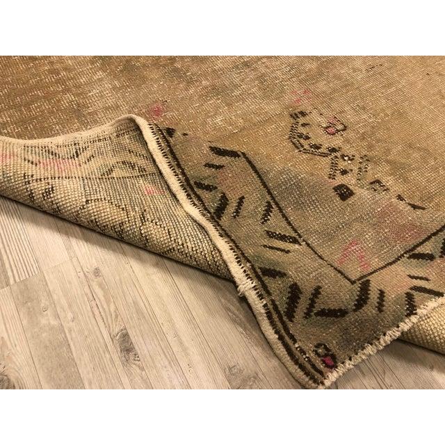 Nomadic Handmade Antique Vintage Rug For Sale - Image 4 of 11