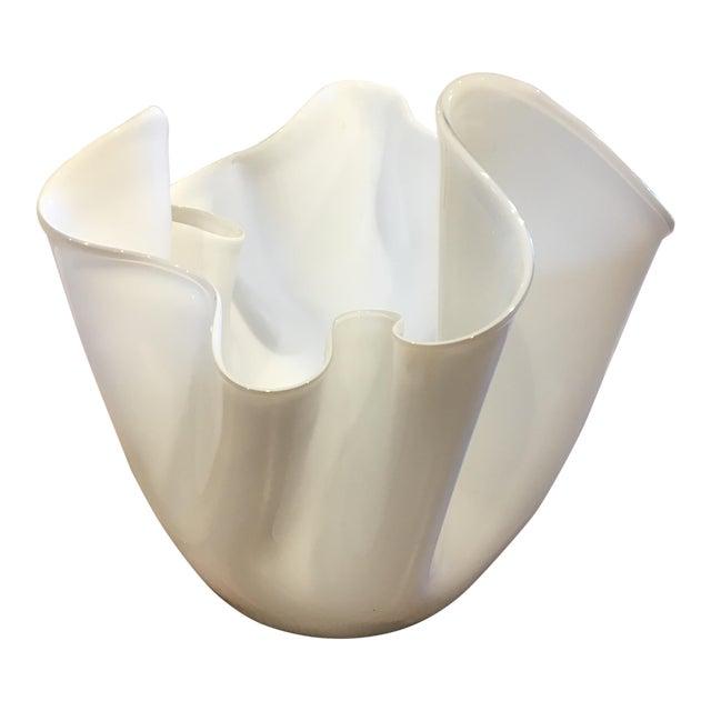 Venini Italian Fazzoletto Vase For Sale