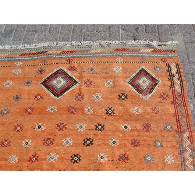 "Vintage Turkish Kilim Rug - 5'11"" X 8'6"" For Sale - Image 5 of 11"