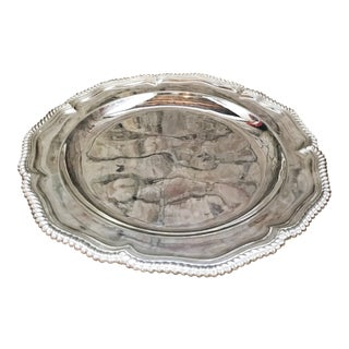 Large Antique Tiffany and Co Silver Plated Tray For Sale