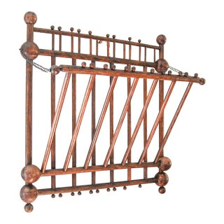 1900s Victorian Stick and Ball Magazine Rack For Sale