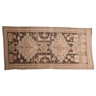 "Antique Distressed Karabagh Rug Runner - 3'11"" X 8'"