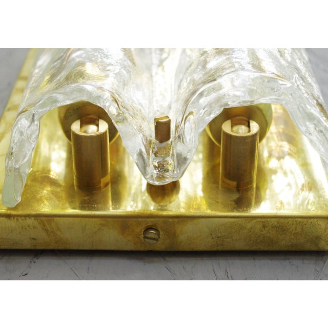 Brass Pair of Textured Sconces by Mazzega For Sale - Image 7 of 10