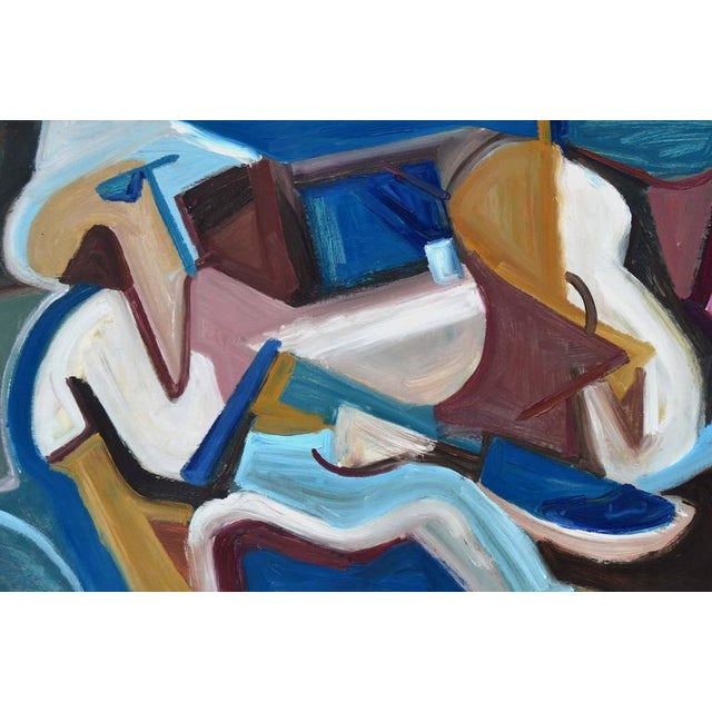 Abstract exressionist painting by Les (Leslie Luverne) Anderson (American, 1928-2009). Les Anderson owned and operated the...