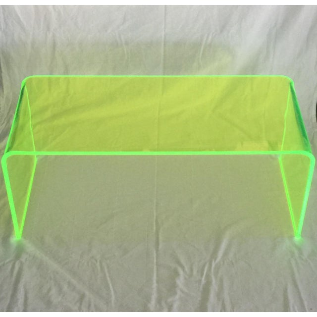 """The Long Game"" Coffee Table in Neon Green For Sale In San Francisco - Image 6 of 11"