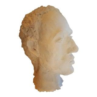 Vintage Plaster Male Bust For Sale