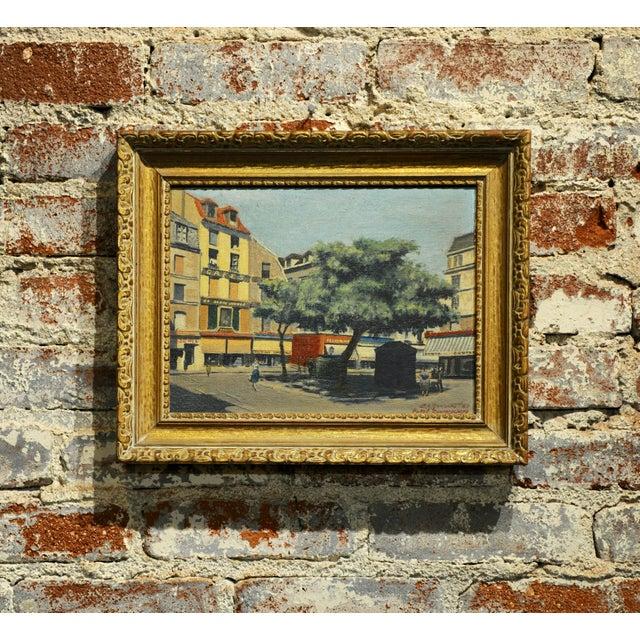 s.g. Garrett -Place De La Contrescarpe ,Paris 1963 - Oil Painting For Sale - Image 9 of 9