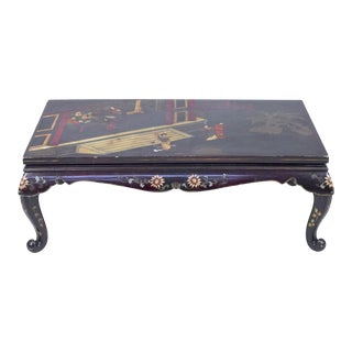 Asian Style Chinoiserie Coffee Table For Sale