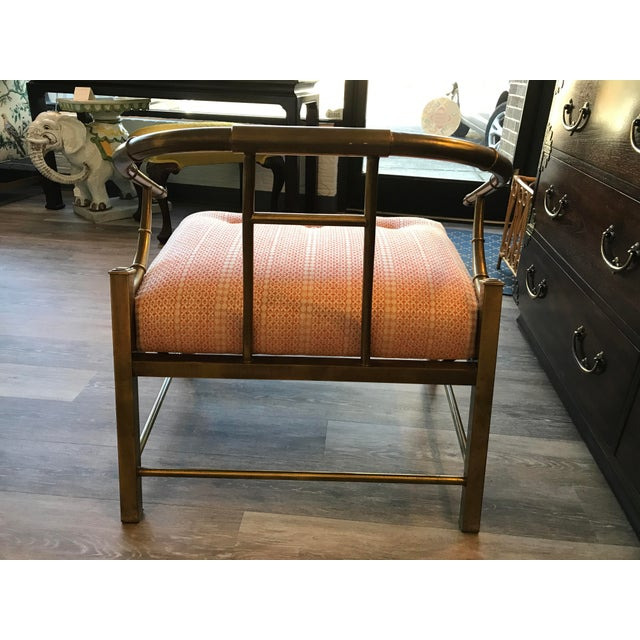 1970's Brass Ming Chair - Image 4 of 6