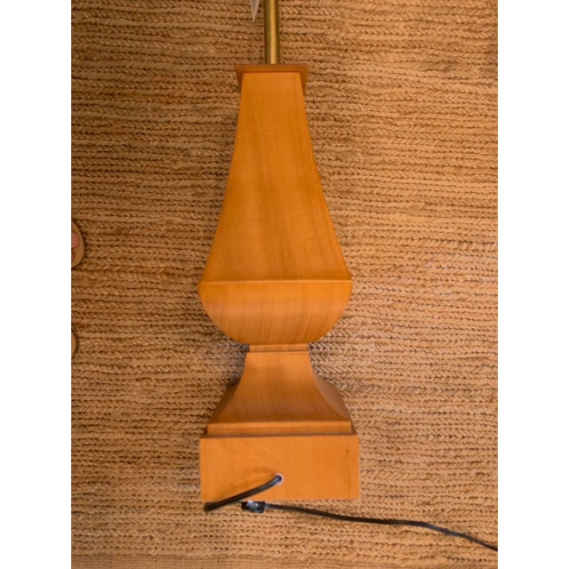 2010s Thomas Pheasant for Baker Furniture Wood Lamp For Sale - Image 5 of 6