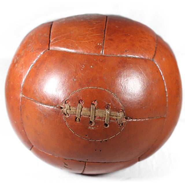 Early 20th-C. Leather Medicine Ball - Image 1 of 3