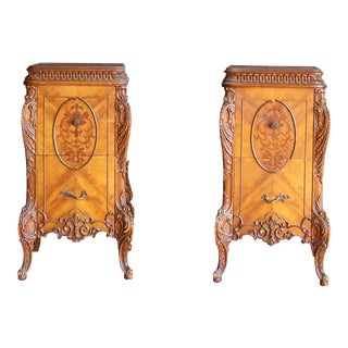 Antique French Provincial Style Nightstands - a Pair For Sale