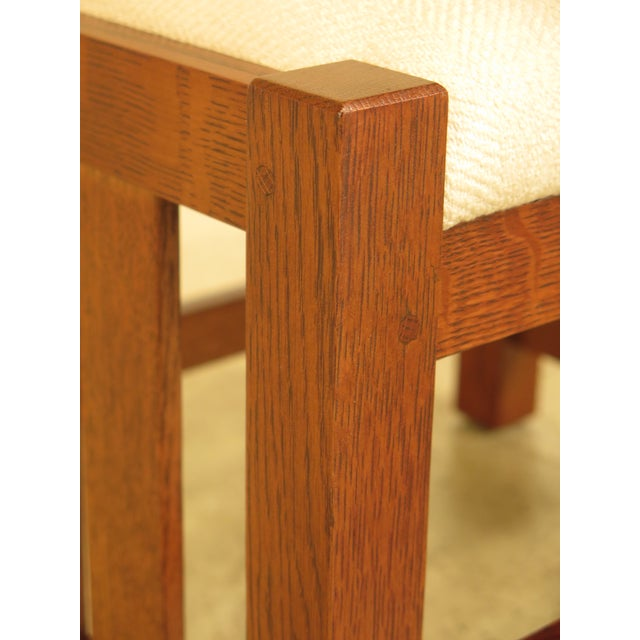 Stickley Mission Oak Arts & Crafts Ottoman - Image 4 of 9