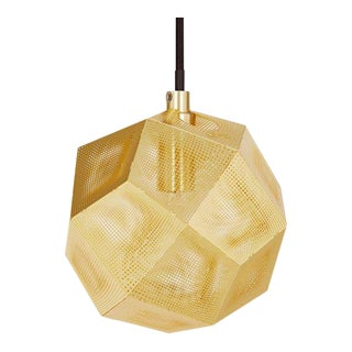 Tom Dixon Etch Mini Pendant in Brass For Sale