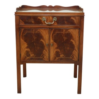 Baker Flame Mahogany Front Nightstand For Sale
