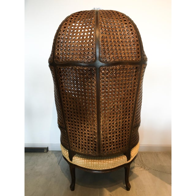Mariano Garcia Cane Hooded Porter's Chair For Sale - Image 4 of 11