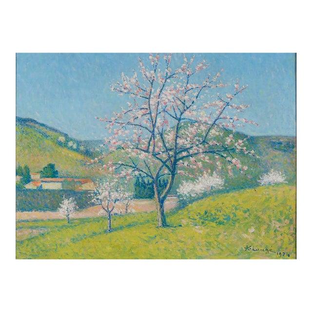 """Achille Laugé 1861-1944 French Arbres en Fleur à Alet-les-Bains (Flowering Trees in Alet-les-Bains) Signed and dated """"A...."""