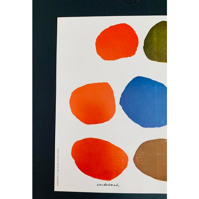 "Abstract 1960s Vintage Sister Mary Corita Kent ""Wonderbread"" Print For Sale - Image 3 of 10"