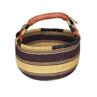 """Large African Bolga Ghana Market Basket 14""""-16"""" For Sale"""