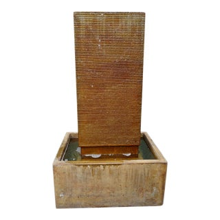 Cement Rust Ripple Fountain Medium For Sale