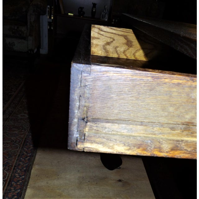 Antique Walnut Library Desk For Sale - Image 11 of 11