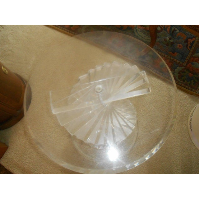 Vintage Lucite Helix Spiral Stacked Block Table Base - Image 6 of 8