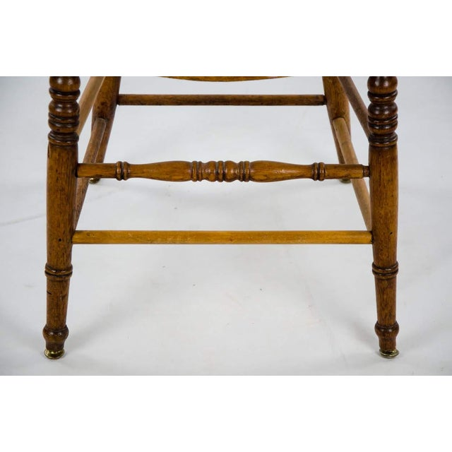 Late 19th Century American Windsor Style Barrel Back Oak and Caned Side Chairs- A Pair For Sale - Image 11 of 13