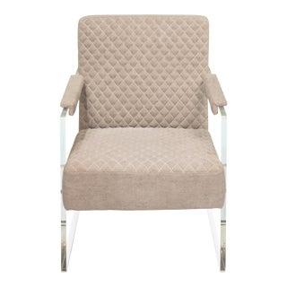 "Sarreid Ltd. ""Just Look"" Acrylic Gray Arm Chair For Sale"