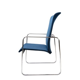 1970s Mid-Century Modern Peter Protzman for Herman Miller Navy Blue High Back Chair
