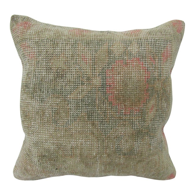 Turkish Faded Decorative Vintage Pillow Cover For Sale
