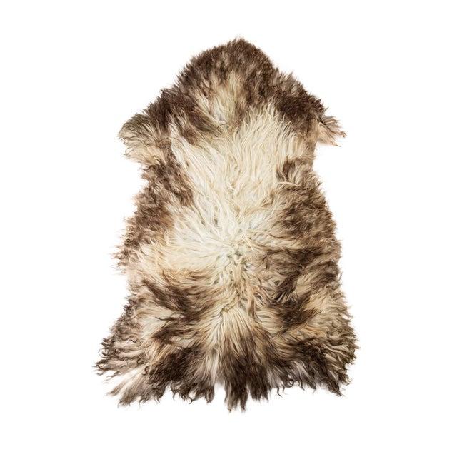 "Contemporary Hand-Tanned Sheepskin Pelt Rug - 2'4""x4'0"" For Sale"