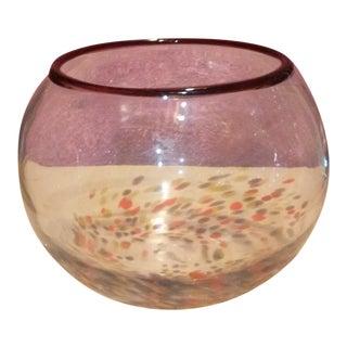 Art Glass Fish Bowl