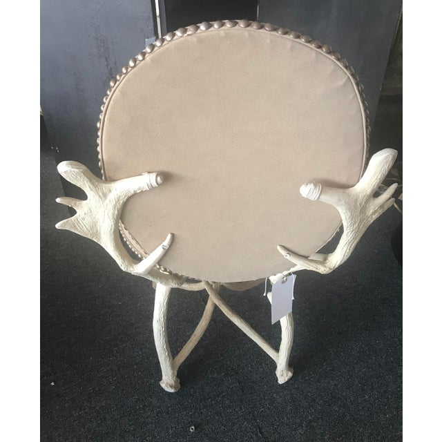 Arthur Court Mid-Century Design Faux Moose Antler Chair - Image 3 of 4