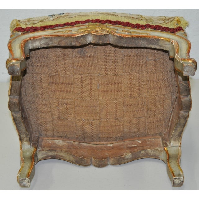 French Rococo Footstool 19th C. - Image 7 of 7
