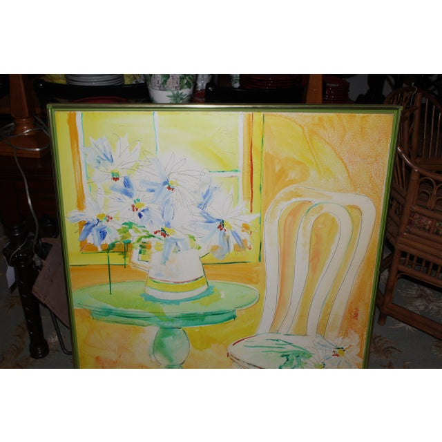 Vintage Mid-Century Yellow Still Life Painting For Sale In New York - Image 6 of 12