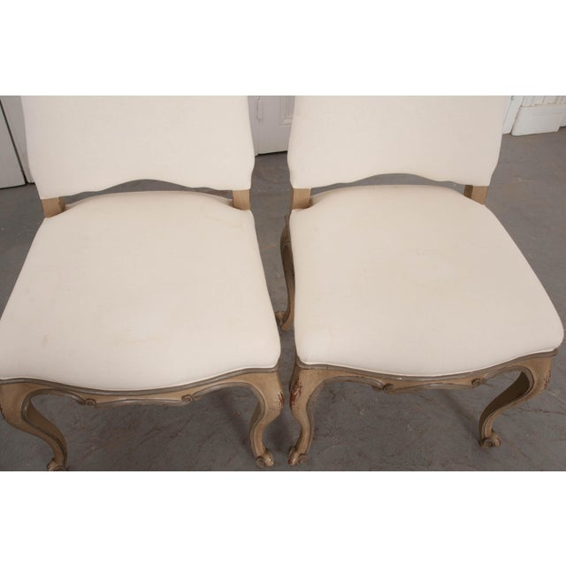Gray French Louis XV Style Reproduction Dining / Side Chairs - Set of 4 For Sale - Image 8 of 13