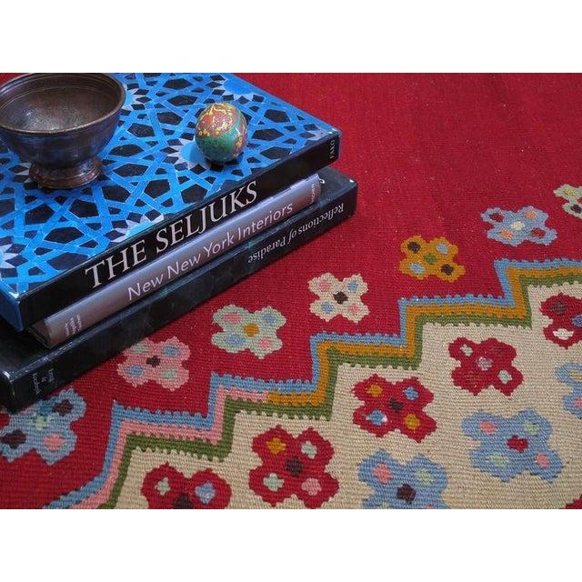 Fantastic Antique Oushak Kilim For Sale In New York - Image 6 of 10