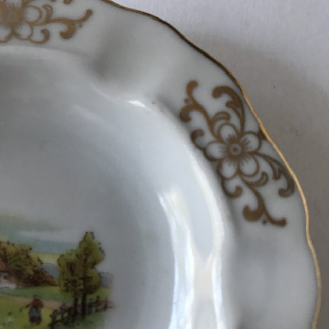 Cabin Petite Mid-Century Bavarian Ashtray With Farm Scene For Sale - Image 3 of 6