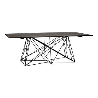Karl Table with Metal Base, Ebony Walnut For Sale