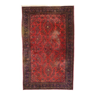 Antique Persian Kashan Palace Rug - 10'09 X 17'01 For Sale