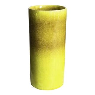 Mid-Century Italian Yellow Vase For Sale