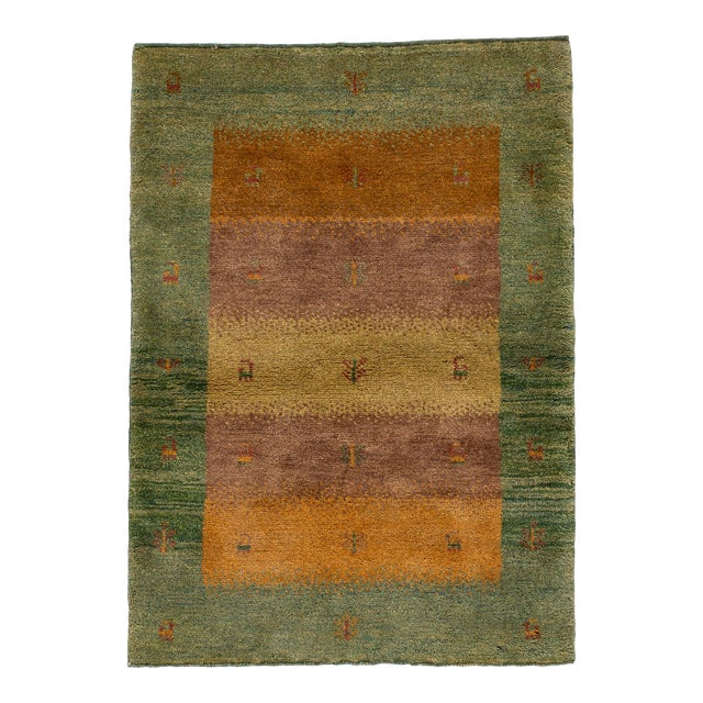 "Mid-20th Century Persian Gabbeh Rug, 2'9"" X 3'10"" For Sale"