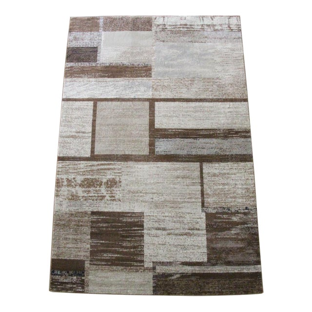 "Brown Neutral Rug - 5'3"" X 7'7"" For Sale"